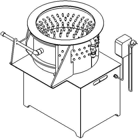 перосъемная машина для ощипа перепелов Спрут 500