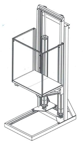 Подъемно-опускная площадка модуль крс