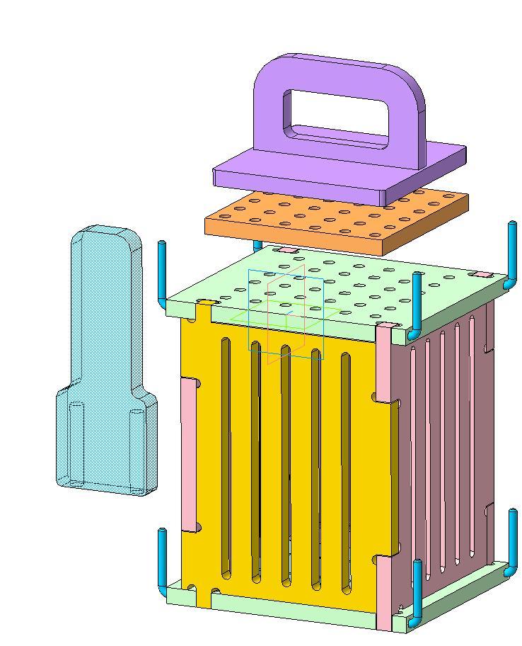 Форма для приготовления шашлычков на шпажке